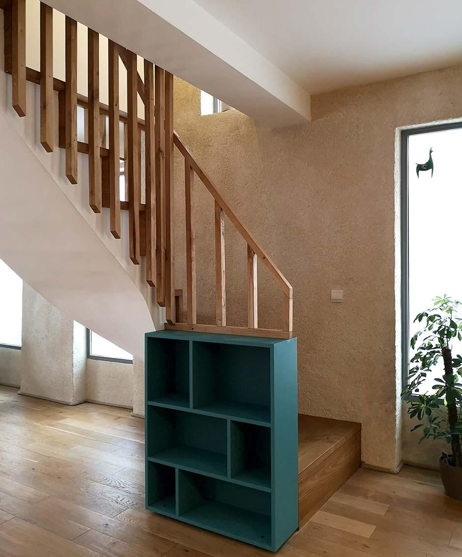 Garde corps d'escalier façon claustra